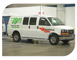Uhaul truck rental at Midland Self Storage in Tacoma, WA